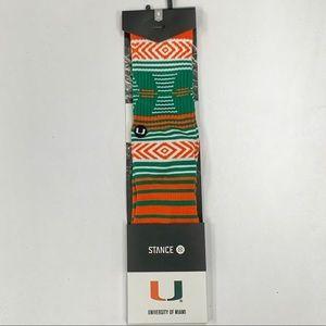 Stance X NCAA Miami Hurricanes Socks FSU M